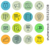 set of project management icons ... | Shutterstock .eps vector #505131538