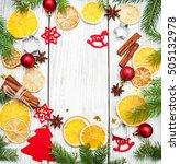 christmas background    baking... | Shutterstock . vector #505132978