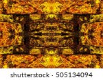 colorful stone wall texture.... | Shutterstock . vector #505134094