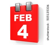 february 4. calendar on white... | Shutterstock . vector #505135336
