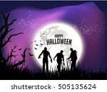 happy halloween . | Shutterstock .eps vector #505135624