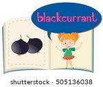 blackcurrant on children book...   Shutterstock .eps vector #505136038
