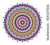 vector hand drawn doodle... | Shutterstock .eps vector #505137316