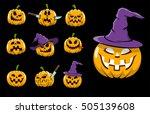 cartoon halloween isolated... | Shutterstock . vector #505139608