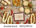 fast food  food festival. food... | Shutterstock . vector #505139914