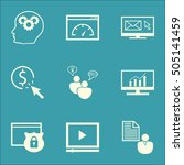 set of advertising icons on ppc ... | Shutterstock .eps vector #505141459