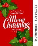 merry christmas greeting card... | Shutterstock .eps vector #505141786