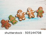 Row Of Decorated Gingermen On...