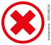delete x cross glyph rounded... | Shutterstock . vector #505148218