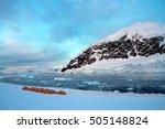 camping in neko harbor ... | Shutterstock . vector #505148824