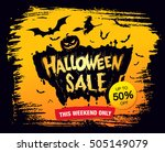 halloween sale. vector... | Shutterstock .eps vector #505149079