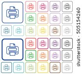 print color icons in flat... | Shutterstock .eps vector #505154260