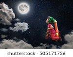 a childhood dream  the cute... | Shutterstock . vector #505171726