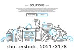 solutions   illustration of... | Shutterstock .eps vector #505173178