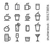 drinks icons | Shutterstock .eps vector #505173856