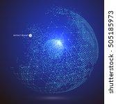 world map point  line ...   Shutterstock .eps vector #505185973