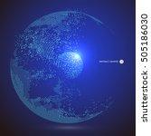 world map point  line ... | Shutterstock .eps vector #505186030