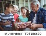 grandparents and grandchildren... | Shutterstock . vector #505186630