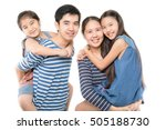 happy asian family smiling and... | Shutterstock . vector #505188730