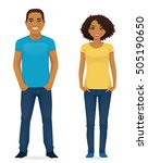 young people in casual clothes. ... | Shutterstock .eps vector #505190650