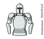 plate armor icon in cartoon... | Shutterstock .eps vector #505199119