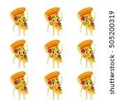 cute kawaii fast food... | Shutterstock .eps vector #505200319