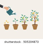 money tree  financial growth... | Shutterstock .eps vector #505204873