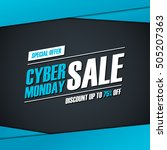 cyber monday sale. special... | Shutterstock .eps vector #505207363