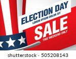 election day sale. vector banner | Shutterstock .eps vector #505208143