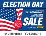 election day sale. vector banner | Shutterstock .eps vector #505208149