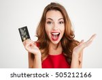 happy excited amazed young... | Shutterstock . vector #505212166