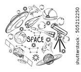 set of space elements.... | Shutterstock .eps vector #505212250