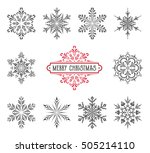 ornate vector snowflakes with...   Shutterstock .eps vector #505214110