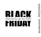 black friday. horizontal slice. ... | Shutterstock .eps vector #505224454