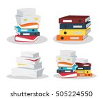 set of papers tacks. many... | Shutterstock .eps vector #505224550