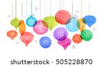 christmas backgound with... | Shutterstock .eps vector #505228870