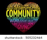 community heart word cloud... | Shutterstock .eps vector #505232464
