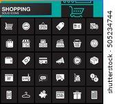 online shopping vector icons... | Shutterstock .eps vector #505234744
