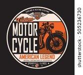 motorcycle rider typography  t... | Shutterstock .eps vector #505236730