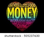 money heart word cloud collage  ...