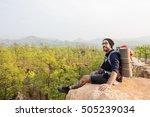 person traveler travel...   Shutterstock . vector #505239034