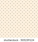 polka dot pattern vector  | Shutterstock .eps vector #505239124