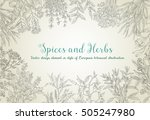 decorative vector vintage... | Shutterstock .eps vector #505247980