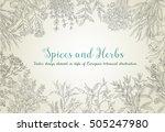 decorative vector vintage... | Shutterstock .eps vector #505247980