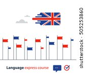 english language courses... | Shutterstock .eps vector #505253860
