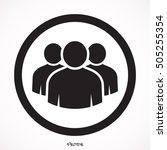 group of people icon in circle .... | Shutterstock .eps vector #505255354