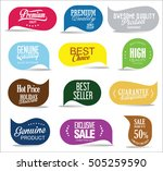 modern sale stickers collection | Shutterstock .eps vector #505259590