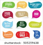 modern sale stickers collection | Shutterstock .eps vector #505259638