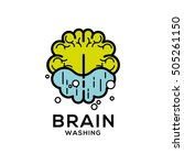 brain washing vector logo | Shutterstock .eps vector #505261150