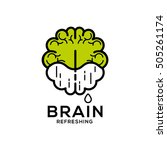 brain refreshing vector logo | Shutterstock .eps vector #505261174